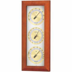 気象計 気圧計/温湿度計 木製インテリア アトモス