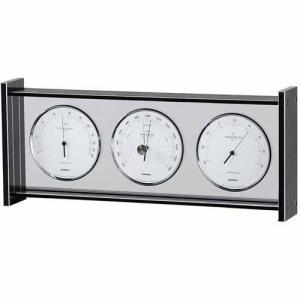 気象計 気圧計/温湿度計/時計 アルミ枠
