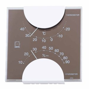 温湿度計 おしゃれ 温度計 湿度計 アナログ 壁掛け 卓上置き 日本製 リビング インテリア|kanaemina