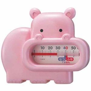 湯温計 水温計 アナログ お風呂の温度計 カバさん 浮き型 お湯の温度計測 日本製|kanaemina