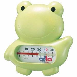 湯温計 水温計 アナログ お風呂の温度計 カエルさん 浮き型 お湯の温度計測 日本製|kanaemina