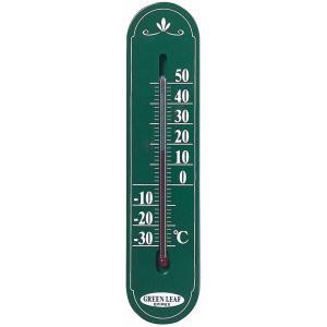 温度計 寒暖計 アナログ グリーンリーフ 壁掛け おしゃれ シンプル 日本製|kanaemina