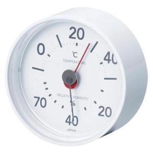 温湿度計 温度計 湿度計 アナログ おしゃれ 掛け置き 大きい文字 見やすい スノーホワイト
