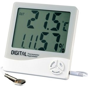 室外温度計 室内外 温湿度計 デカデジタル|kanaemina