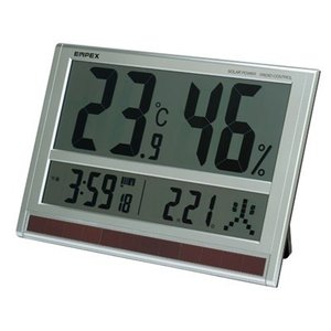 壁掛け時計 デジタル 電波時計 温度計 湿度計 大きい 大型 特大 壁掛け 置き おしゃれ|kanaemina