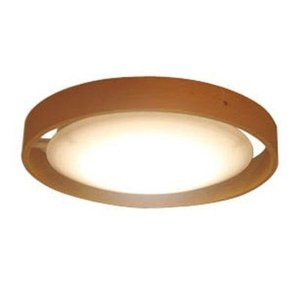 シーリングライト LED 小型 ミニ 天井照明器具 直径15cm おしゃれ 木製フレーム ナチュラル 電球色|kanaemina