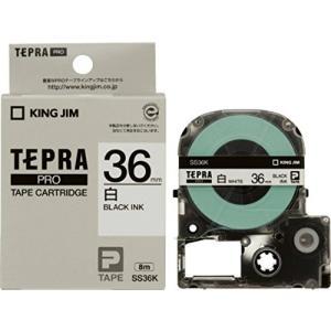 テプラ Pro プロ キングジム テープ カートリッジ SS36K 幅36mm 白ラベル 黒文字|kanaemina