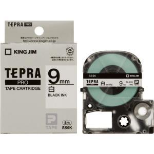 テプラ Pro プロ テープ カートリッジ SS9K (白ラベル/黒文字)|kanaemina