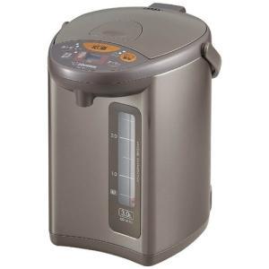 電動ポット 電動給湯ポット 象印 マイコン沸騰 4段階保温機能付き 3.0L メタリックブラウン|kanaemina