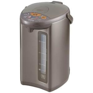 電動ポット 電動給湯ポット 象印 マイコン沸騰 4段階保温機能付き 4.0L メタリックブラウン|kanaemina