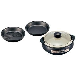 グリル鍋 電気鍋 ホットプレート 象印 卓上グリルなべ 1台3役 土鍋風グリルパン|kanaemina