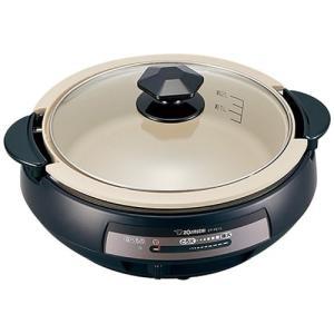 グリル鍋 電気鍋 ホットプレート 象印 卓上グリルなべ 土鍋風グリルパン|kanaemina