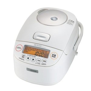 圧力IH炊飯器 象印 炊飯ジャー 極め炊き 5.5合炊き 鉄器コートプラチナ厚釜 NP-BJ10-WA ホワイト|kanaemina