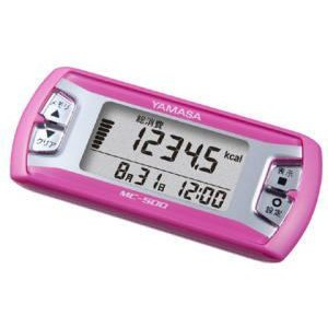 万歩計 歩数計 小型 山佐 活動量計 消費カロリー計算 ピンク 健康グッズ ウォーキング