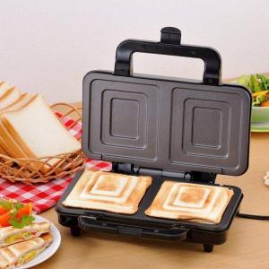 ホットサンドメーカー 耳まで 食パン 2枚焼き 電気式 そのままホットサンド 新津興器|kanaemina
