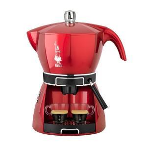 電動エスプレッソマシン 電気式コーヒーメーカー ビアレッティ モッキシマ レッド|kanaemina