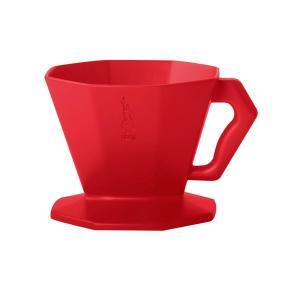 コーヒードリッパー ドリップ式珈琲フィルター ビアレッティ プラスチック 2カップ用 レッド|kanaemina
