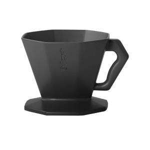 コーヒードリッパー ドリップ式珈琲フィルター ビアレッティ プラスチック 2カップ用 ブラック|kanaemina
