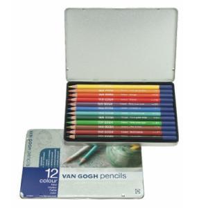 色鉛筆 12色セット ヴァンゴッホ 高品質 高級 色えんぴつ 大人の塗り絵 画材 kanaemina