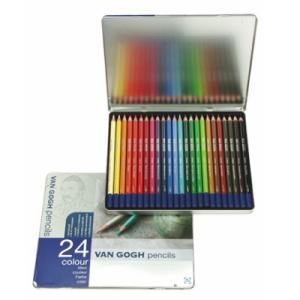 色鉛筆 24色セット ヴァンゴッホ 高品質 高級 色えんぴつ 大人の塗り絵 画材 kanaemina
