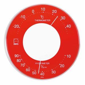 温湿度計 おしゃれ 温度計 湿度計 アナログ 壁掛け 卓上置き 丸型 日本製 リビング インテリア|kanaemina
