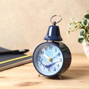 目覚まし時計 アラームクロック ベル音 アナログ 連続秒針 子供部屋 子ども用|kanaemina