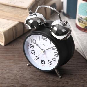 目覚まし時計 ツインベル アラームクロック アナログ 連続秒針 大音量|kanaemina