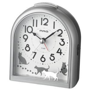 目覚まし時計 アラームクロック 電子音 アナログ 連続秒針 アニマルモチーフ|kanaemina