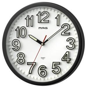 壁掛け時計 掛時計 ウォールクロック アナログ 幅29cm インテリア時計 連続秒針 見やすい立体文字盤|kanaemina