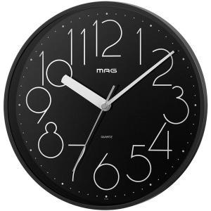 壁掛け時計 掛時計 ウォールクロック アナログ 幅25.5cm インテリア時計 連続秒針 80年代風デザイン|kanaemina