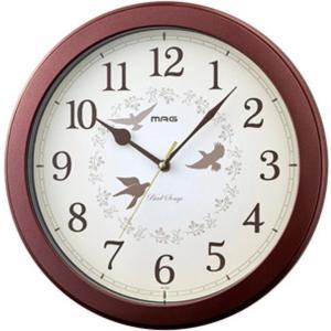 壁掛け時計 電波時計 ウォールクロック 報時機能 12種類の鳥の鳴き声 おしゃれ インテリア時計 直径30.8cm|kanaemina