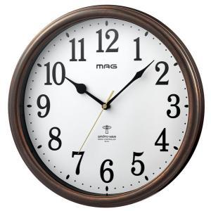壁掛け時計 電波時計 ウォールクロック アナログ 電波受信OFF機能 連続秒針 直径31cm|kanaemina