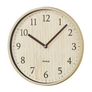 壁掛け時計 ウォールクロック 木目調 シンプル おしゃれ インテリア時計 直径25cm|kanaemina