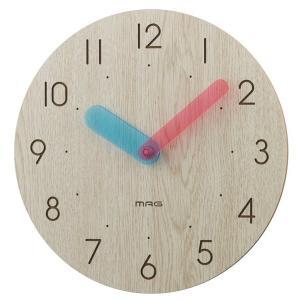壁掛け時計 ウォールクロック おしゃれ 木製 2針時計 シンプル インテリア時計 直径25cm|kanaemina