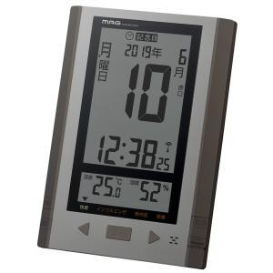 日めくりカレンダー 電波時計 掛け時計 置き時計 置き掛け兼用 デジタル 温度湿度計|kanaemina