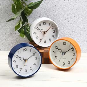 置き時計 卓上クロック 掛け時計 置き掛け両用 小さい 小型 おしゃれ かわいい インテリア 直径12.7cm|kanaemina