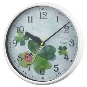 壁掛け時計 掛時計 ウォールクロック アナログ 子供部屋 子ども用 連続秒針 直径25.2cm|kanaemina