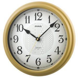 壁掛け時計 電波時計 ウォールクロック アナログ 和モダン 連続秒針 直径31.3cm|kanaemina
