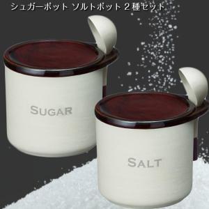 シュガーポット ソルトポット 砂糖 塩容器 2種セット
