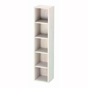 カラーボックス 5段 木製 チェリーウッド アイボリー