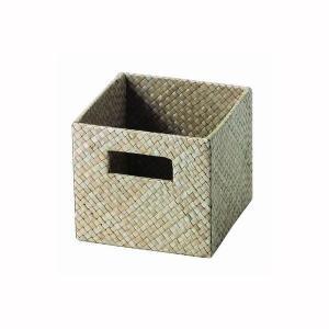 カラーボックス用 収納ボックス パンダン製 ナチュラル 14.5x14.5x13cm|kanaemina
