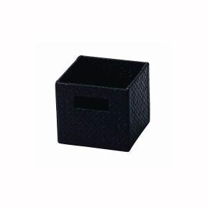カラーボックス用 収納ボックス パンダン製 ダークブラウン 14.5x14.5x13cm|kanaemina