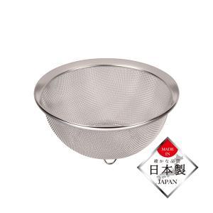 ザル ざる 笊 18cm ステンレス製 ストレーナー 水切り 日本製|kanaemina