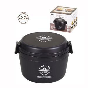 保温弁当箱 保温保冷 丼型 どんぶりランチジャー 1060 大容量 ホームレーベル ブラック|kanaemina