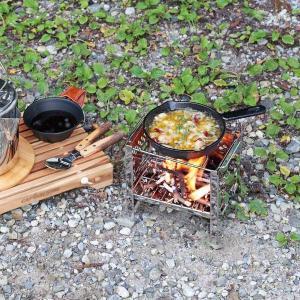 かまどグリル バーベキューコンロ 釜土 竈 ステンレス アウトドア 煮炊き 焼き物 高さ3段階調節|kanaemina