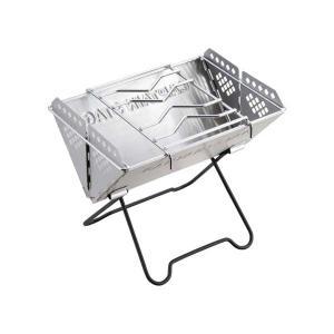 ■商品説明 ○焚火・バーベキュー・煮炊き等、多用途に使えるグリルです。 ○フラットにたたんで付属のバ...