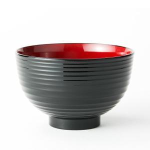 汁椀 お茶碗 洗浄椀 味噌汁椀 おしゃれ 刷毛目 黒内朱 食器洗浄機対応 直径11.8cm 日本製 10個セット|kanaemina