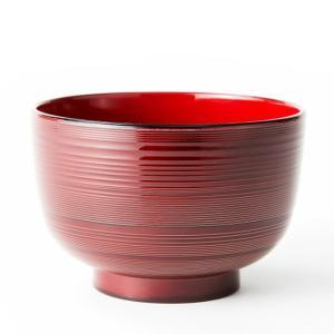 汁椀 お茶碗 洗浄椀 味噌汁椀 おしゃれ 刷毛目 赤溜 食器洗浄機対応 直径11.8cm 日本製|kanaemina
