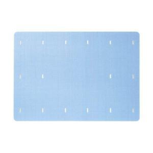 浴室マット バスマット お風呂マット 85×120cm ブルー|kanaemina