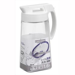 麦茶ポット 水差しピッチャー 冷水筒 耐熱 横置き 縦置き 洗いやすい 熱湯対応 防汚加工 広口 1.6L 日本製|kanaemina